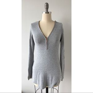 Dynamite Grey Long Sleeve Top